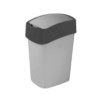 Kosz na śmieci 10L Flip Bin srebrny/grafit