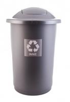 Kosz do segregacji odpadów TOP BIN 50L szary