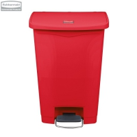 Kosz Slim Jim® Step-On 50L Resin Containers red