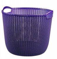 Koszyk okrągły KNIT L fioletowy