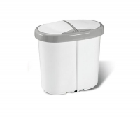 Kosz do segregacji śmieci 2x12L MULTISPACE biały