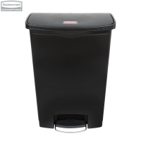 Kosz Slim Jim® Step-On 90L Resin Containers black