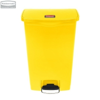 Kosz Slim Jim® Step-On 68L Resin Containers yellow