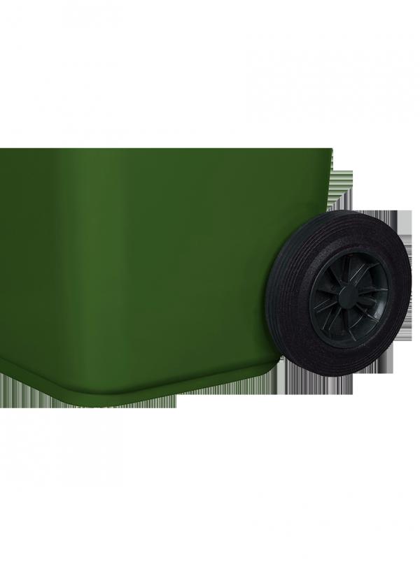 Pojemnik na odpady 120L zielony