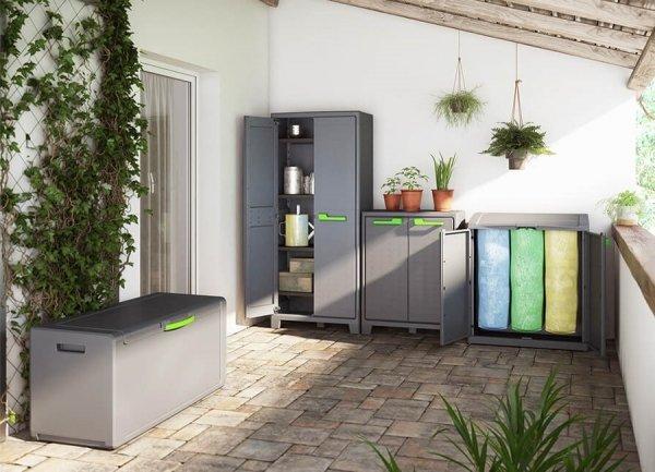 Szafka do segregacji odpadów Compact Store Recycling Graphite/Grey