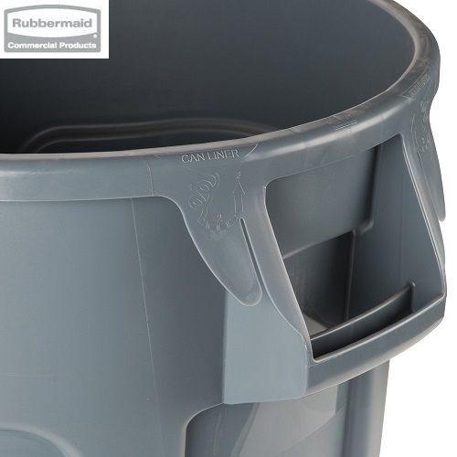 Kontener okrągły z kanałami BRUTE® 75,7L Grey