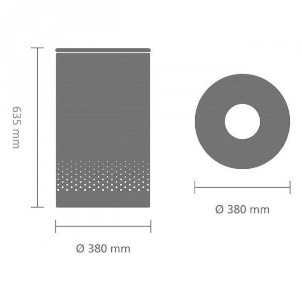 Kosz na bieliznę 60L Brilliant Steel pokrywa stalowa