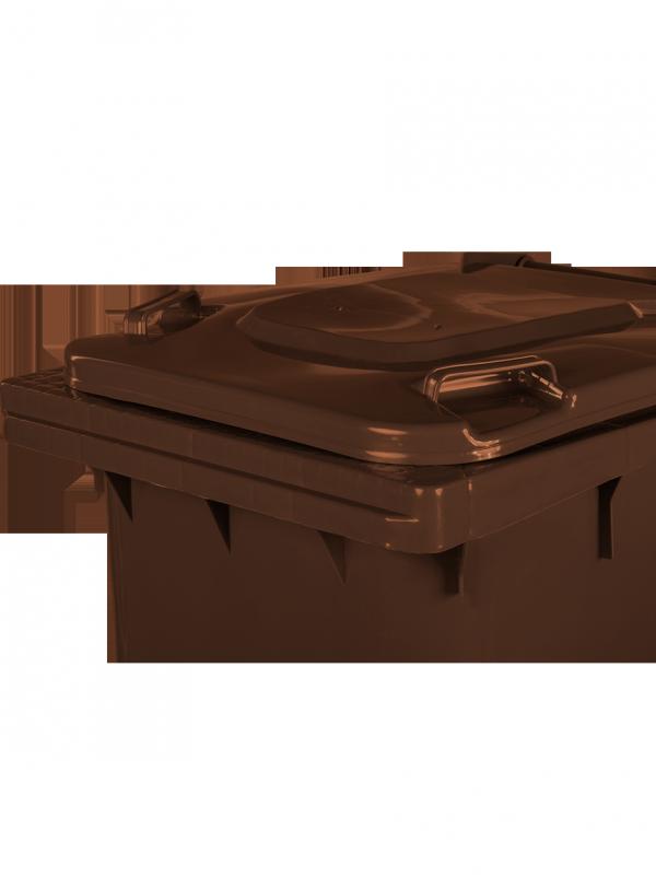 Pojemnik na odpady 240L brązowy