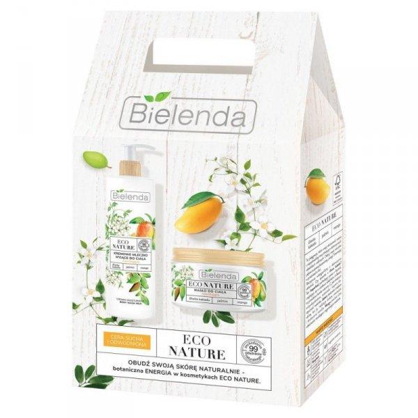Bielenda Eco Nature Zestaw - Mleczko myjące +Masło do ciała