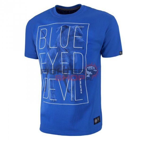 T-shirt Męski BLUE EYED DEVIL '18 Pit Bull