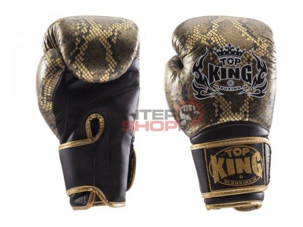 Rękawice bokserskie TKBGSS-02BK_GD SUPER STAR SNAKE Top King