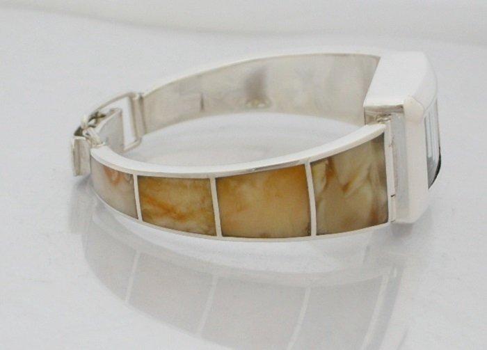Zegarek ze srebra z bursztynami kod 10/1310
