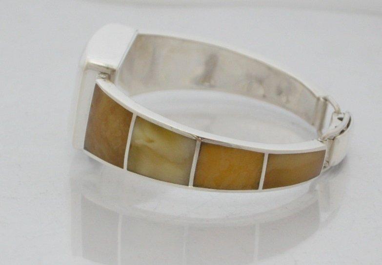 Zegarek ze srebra z bursztynem kod 340/310