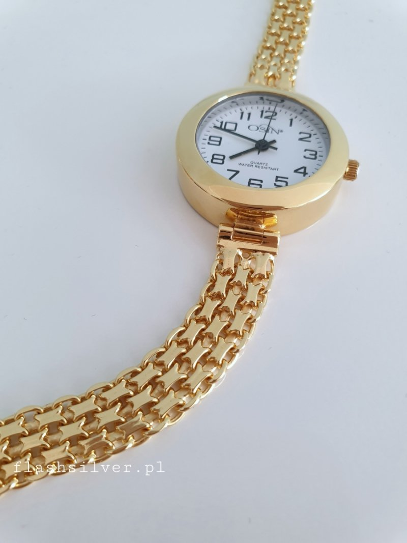 pozłacany zegarek ze srebra