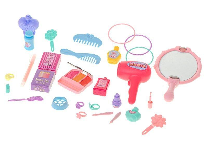 Zestaw kosmetyczny z akcesoriami w walizce toaletka 37el. + stolik