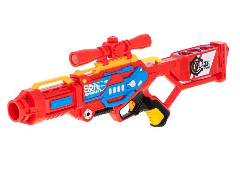 Wyrzutnia karabin Blaze Storm + strzałki do NERFA czerwona