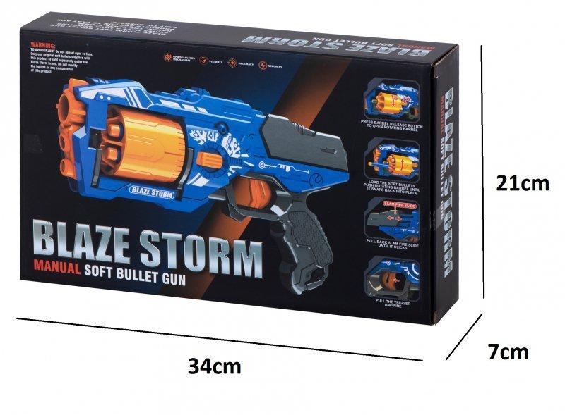 Pistolet bębenkowy wyrzutnia Blaze Storm + 20 strzałek do NERFA