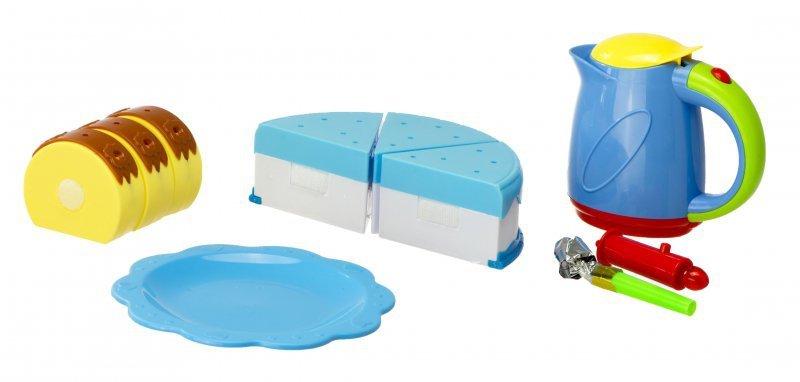 Tort Urodzinowy do Krojenia Kuchnia 80 el. Niebieski