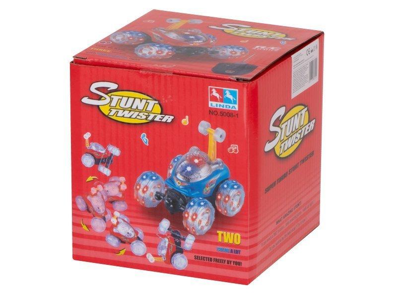 Samochód RC Mini Racer Tumbler Stunt niebieski