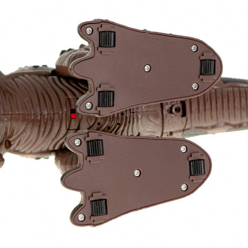 Dinozaur T-REX elektroniczny chodzi ryczy brązowy
