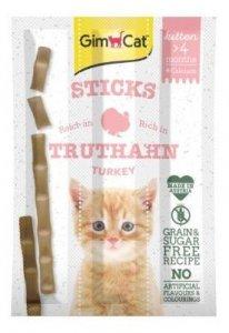 Gimcat Kitten Sticks kabanosiki dla kota z indykiem i wapnem 3x3g