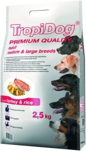 Tropidog Premium Adult Medium & Large Breeds- Indym z Ryżem 2,5kg