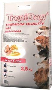 Tropidog Premium Adult Small Breeds- Indyk z Ryżem 2,5kg