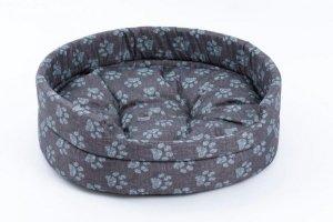 Derma  legowisko z poduszką niebieską łapkę 2