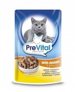 PreVital saszetka dla kota 100g Kurczak sos