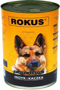 Rokus Dog Indyk i Kaczka 410g