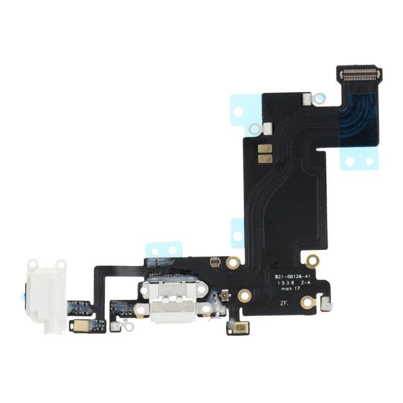 """Taśma do IPHONE 6s PLUS 5,5"""" ze złączem ładowania i gniazdem HF biały"""