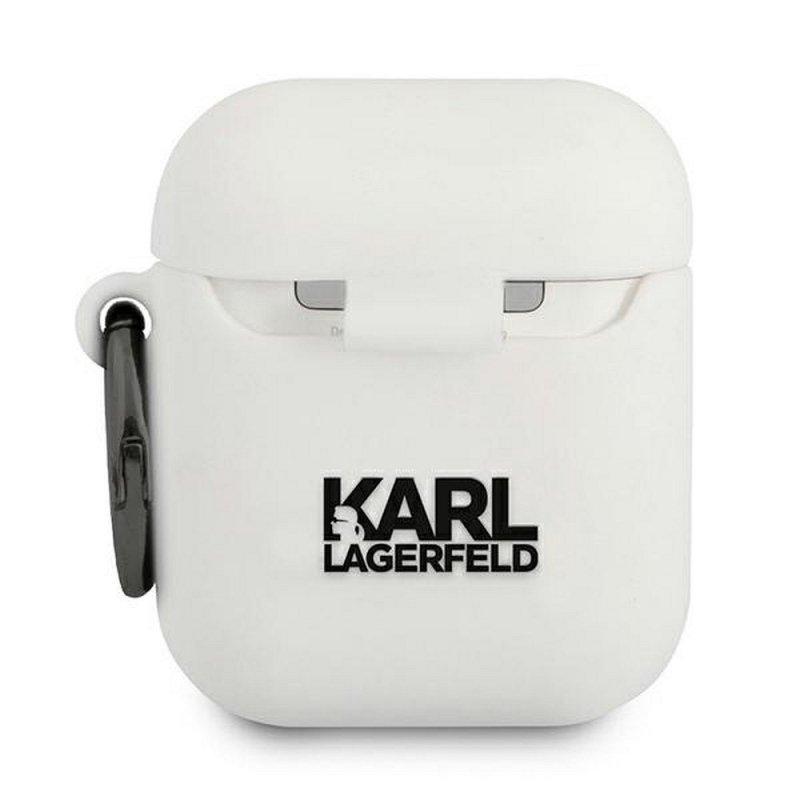 Oryginalne Etui KARL LAGERFELD KLACA2SILCHWH do Apple Airpods biały