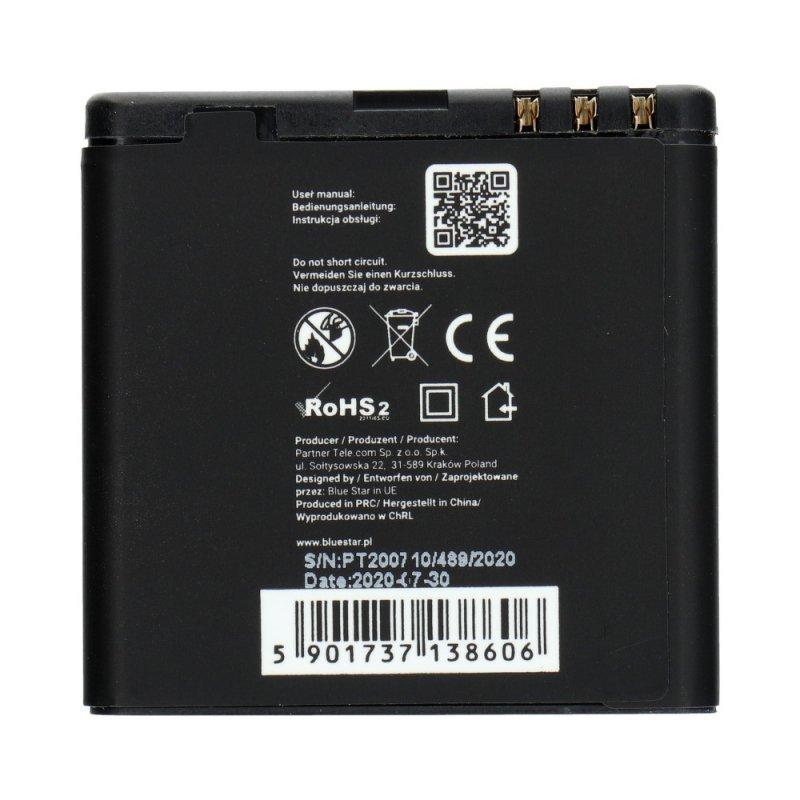 Bateria do Nokia E51/N81/N81 8GB/N82/N86 1200 mAh Li-Ion Blue Star PREMIUM