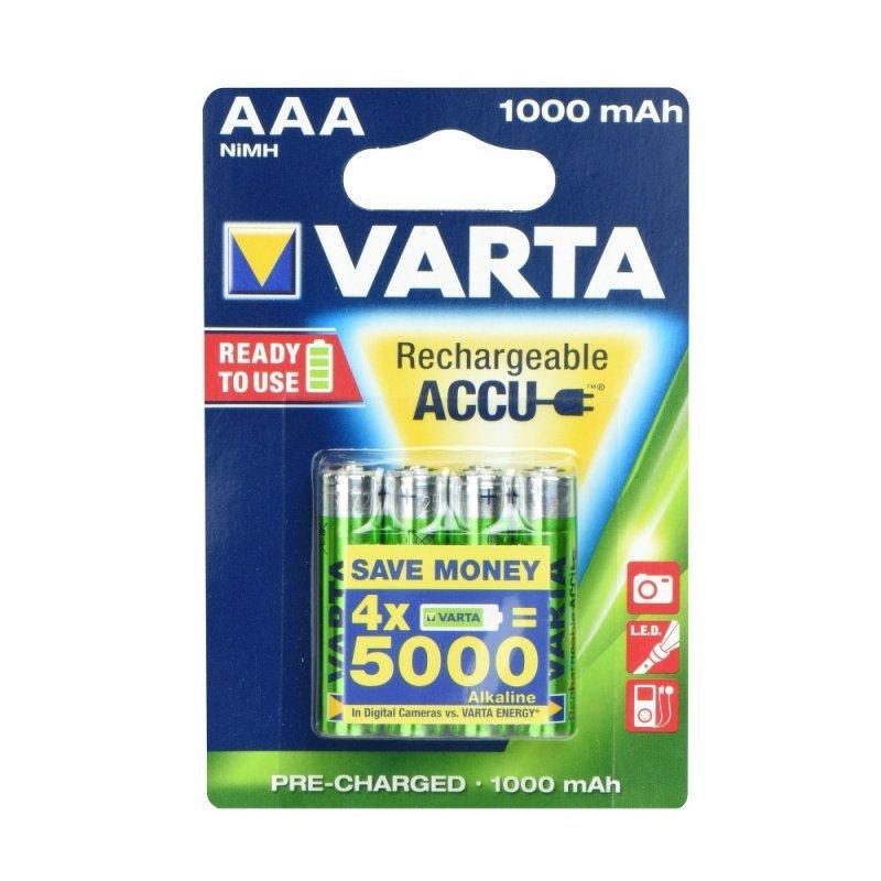 Bateria akumulatorowa VARTA R3 1000 mAH (AAA) 4SZT. ready to use
