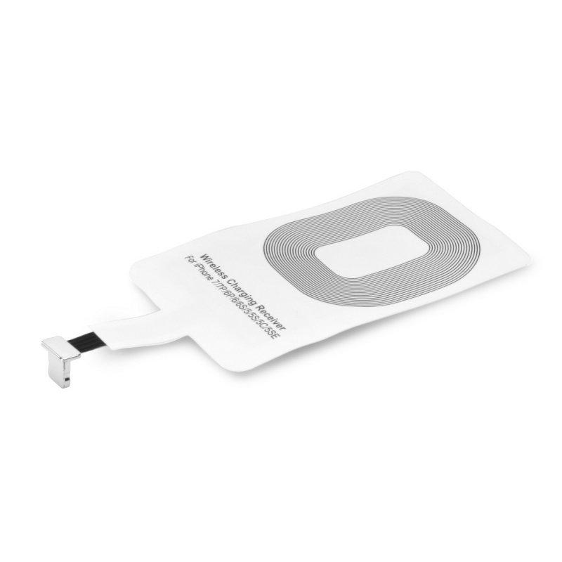 Adapter do ładowania indukcyjnego / bezprzewodowego pasuje do iPhone Lightning 8-pin