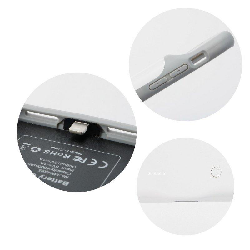 Bateria zewnętrzna (POWER BANK) 3000 mAh z pokrowcem do Iphone X / Xs biały