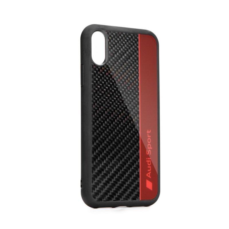 Oryginalne Etui AUDI Carbon Fibre Case AUS-TPUPCS10E-R8/D1-RD do Samsung S10e czerwone