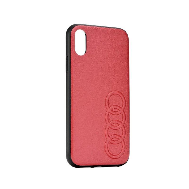 Oryginalne Etui AUDI Leather Case AU-TPUPCS10-TT/D1-RD do Samsung S10 czerwone