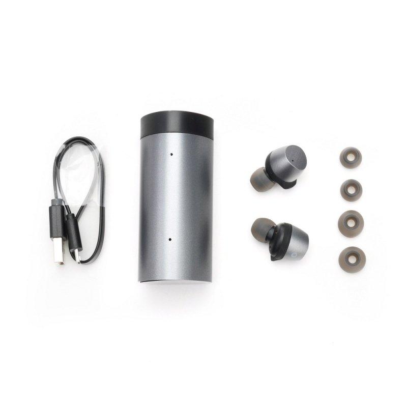 Słuchawki Bluetooth stereo TWS T1 PRO szare + stacja dokująca