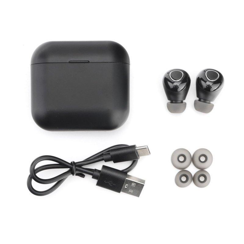 Słuchawki Bluetooth stereo TWS T9 czarne + stacja dokująca