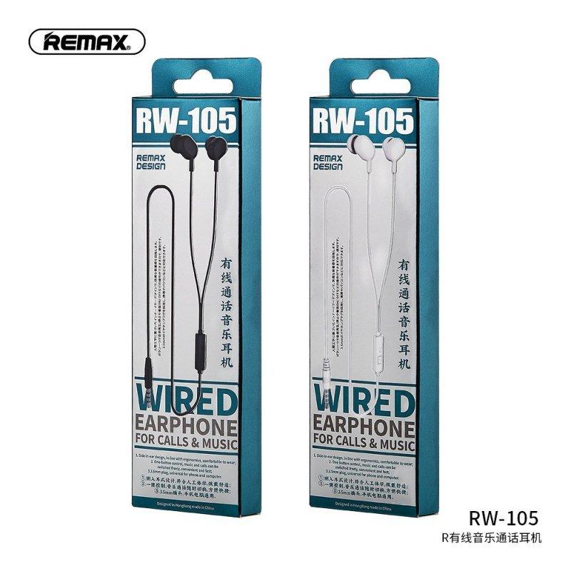 REMAX zestaw słuchawkowy / słuchawki RW-105 białe