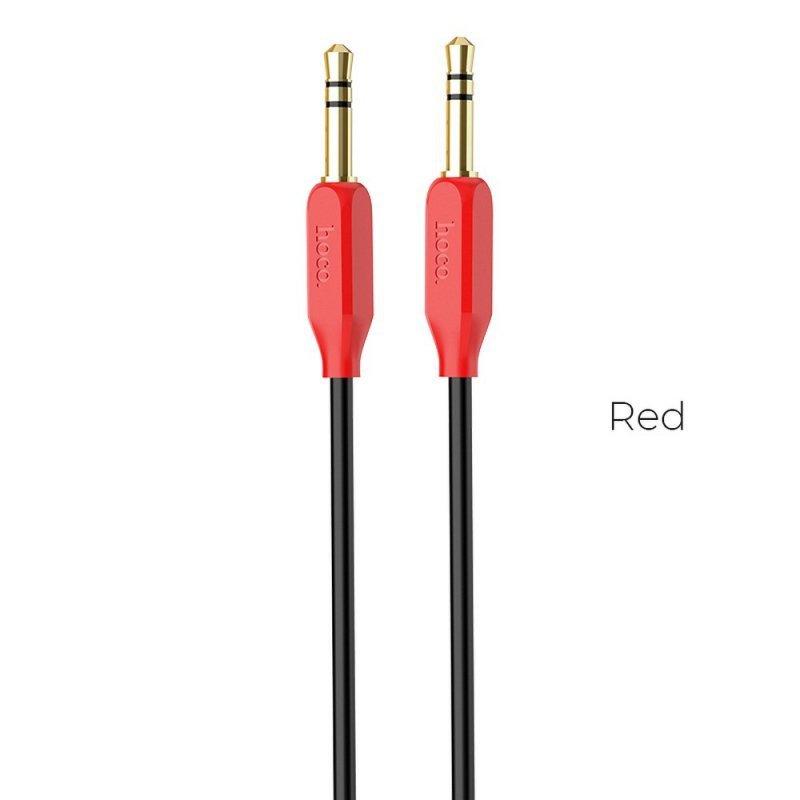 HOCO kabel audio AUX Jack 3,5mm UPA11 czerwony