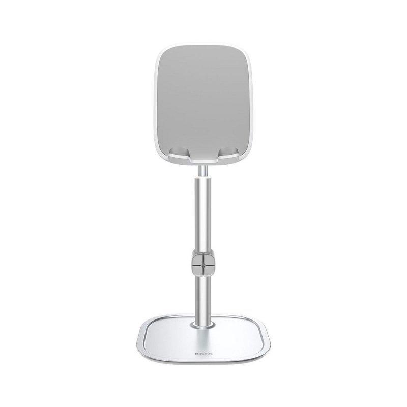 BASEUS podstawka biurkowa na telefon teleskopowa srebrna SUWY-A0S