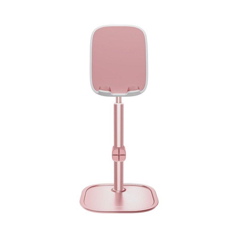 BASEUS podstawka biurkowa na telefon teleskopowa różowo-złoty SUWY-A0R.
