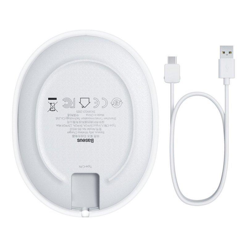 BASEUS ładowarka indukcyjna Jelly Qi 15W  biały WXGD-02