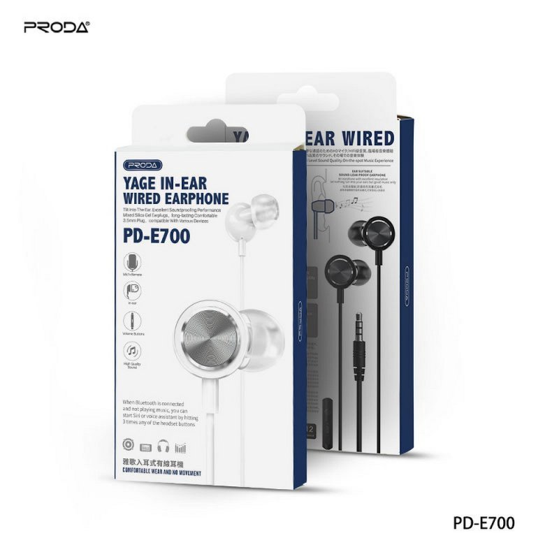 REMAX Proda zestaw słuchawkowy / słuchawki stereo jack 3,5mm PD-E700 czarny