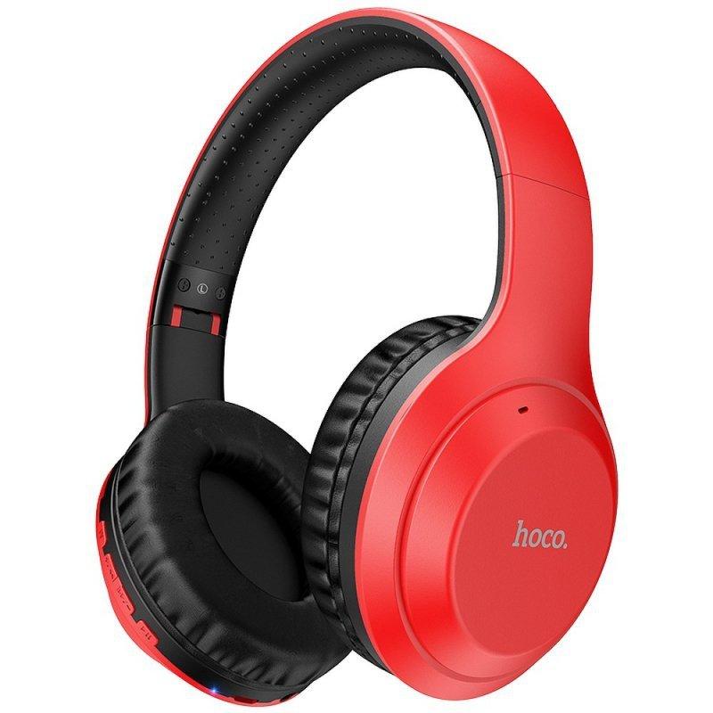 HOCO słuchawki bluetooth nagłowne FUN move W30 czerwone