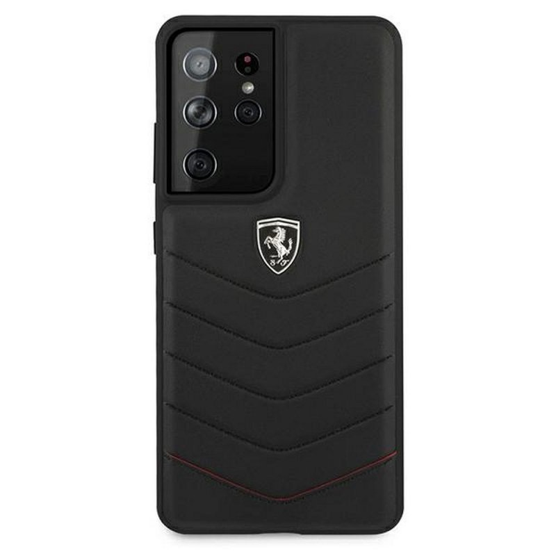 Oryginalne Etui Ferrari Hardcase FEHQUHCS21LBK do Samsung S21 Ultra czarny