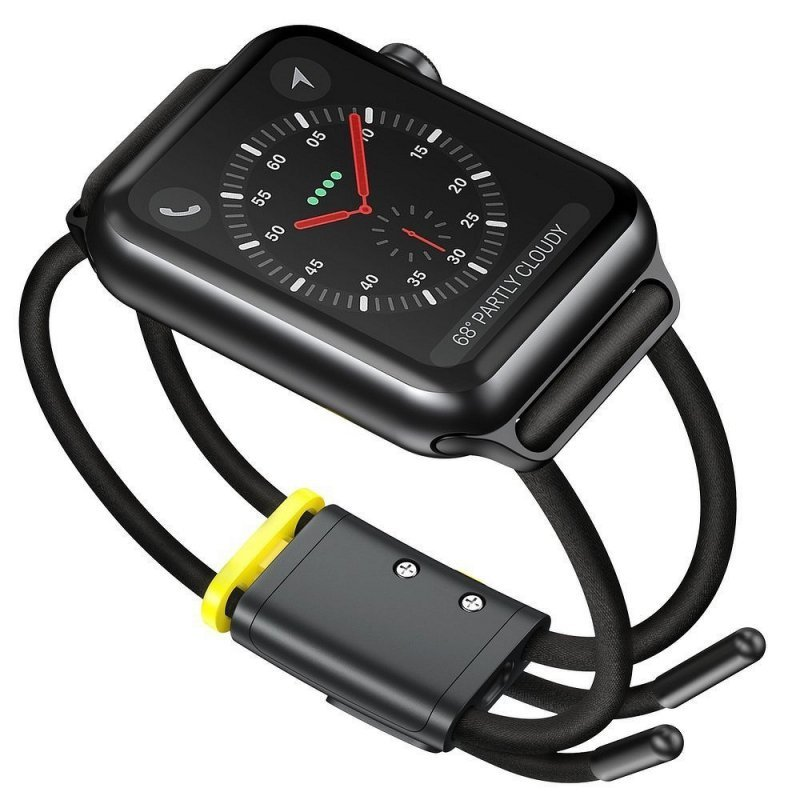 BASEUS pasek do Apple Watch 42mm / 44mm Let`s Go szaro-zółty LBAPWA4-BGY