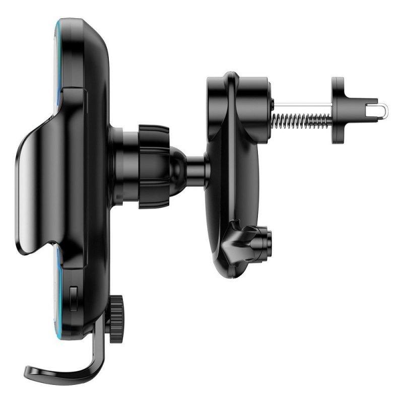 BASEUS uchwyt z ładowaniem indukcyjnym automatyczny do kratki / szyby / deski Light Electric 15W srebrny WXHW03-01